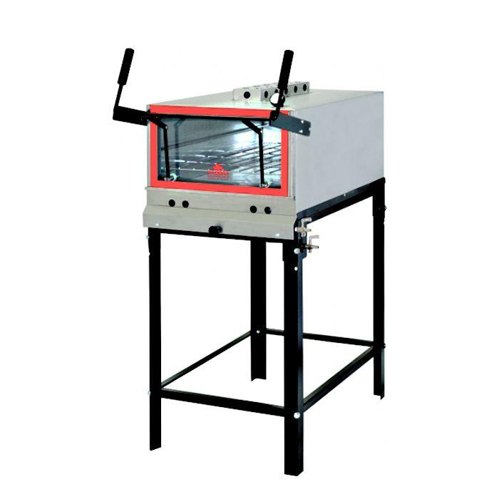 Forno a gas c/ infravermelho refratario progas inox mod. prpi-800kg ref. 5091
