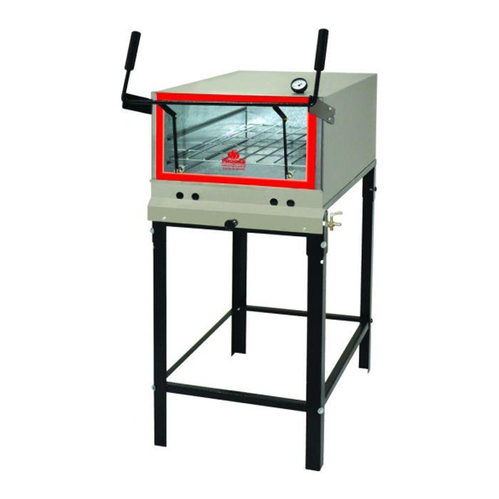 Forno a gas em inox refratario p/ pizza progas mod.prp-800 ref. 30637