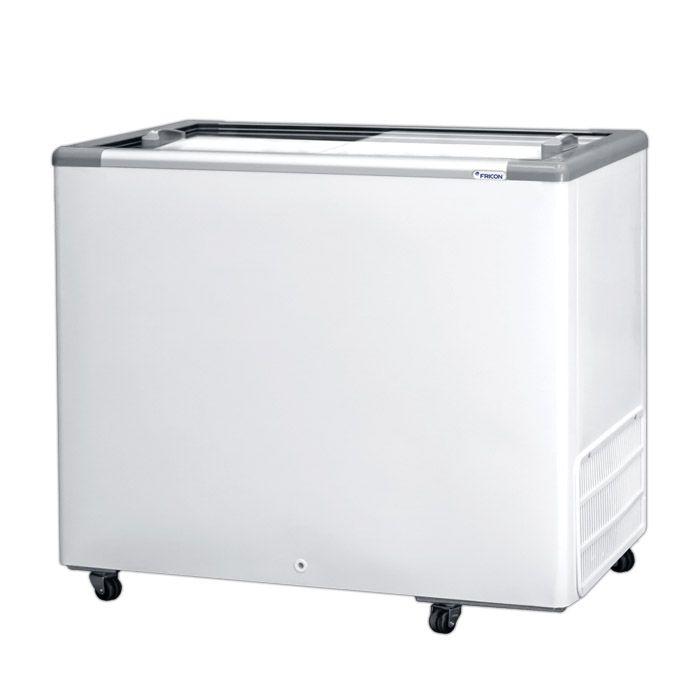 Freezer horizontal comerc. fricon 311lt 127v 2t v. reto mod: hceb-311-1v