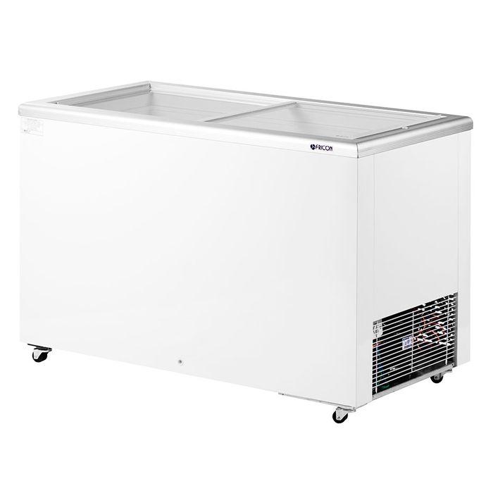 Freezer horizontal comerc. fricon 411lt 127v 2t v. reto mod: hceb-411-1v