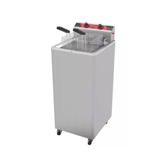 Fritador eletrico metalcubas oleo e agua 30lt 02 cestas 220v mod.gfao30e/8000w