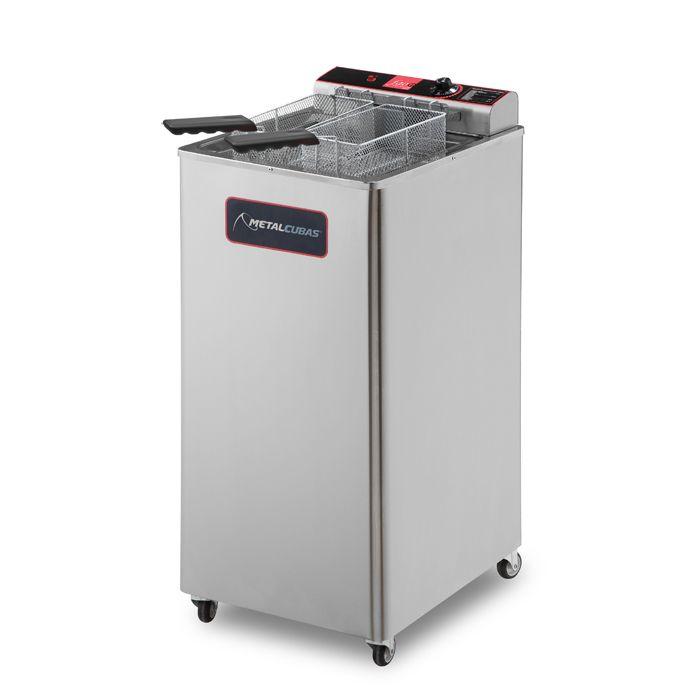Fritador eletrico metalcubas oleo e agua 30lt 02 cestas 220v mod. gfao-30e