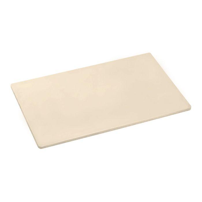 Placa de corte lisa polipropileno kitplas bege 50 x 30 x 01cm  ref. 783