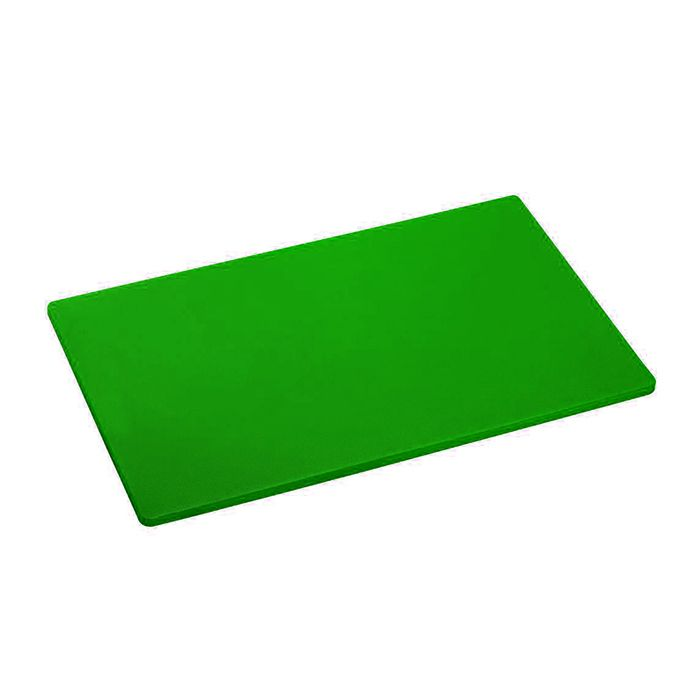 Placa de corte lisa polipropileno kitplas verde  50 x 30  x 01cm  ref. 743