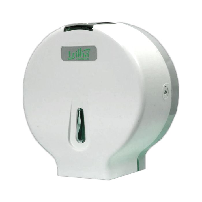 Toalheiro p/ papel higienico em bobina de 600mt branco trilha  mod. t-0310pl