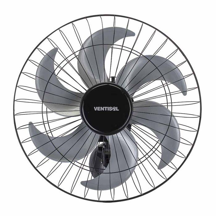 Ventilador de parede 50cm 127/ 220v cinza/ preto ventisol mod. steel 50