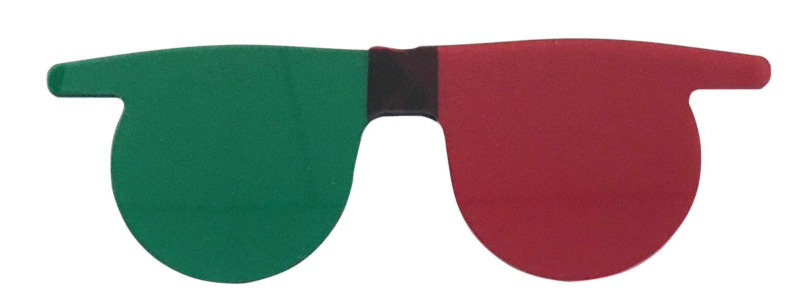 01 und. Óculos 3 D Sobrepor Verde  e Vermelho