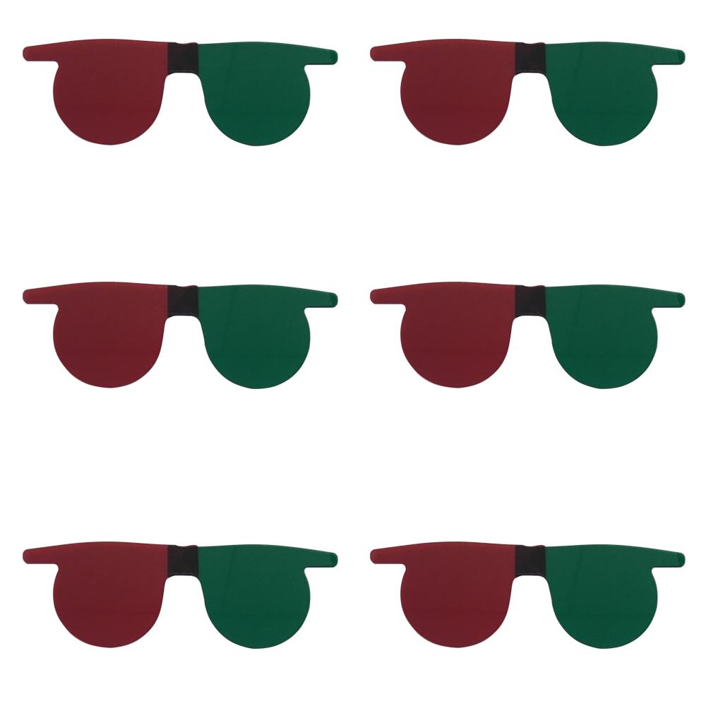 06 und. 3 D Óculos Sobrepor Verde Vermelho