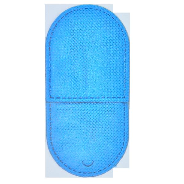 kit c/ 4 Oclusor / Tampão Adulto P/ Estrabismo Tnt Azul
