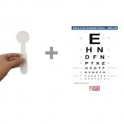 Kit Tabela Teste de Visão para Longe 3m + Oclusor de Acrílico