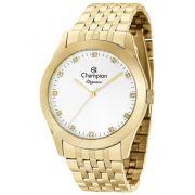15f46ba0196 Relógio Champion Elegance Feminino Dourado Strass CN26742H