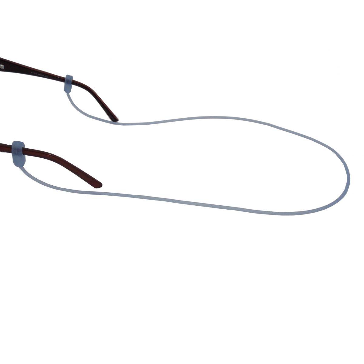 Cordão De Silicone Para Óculos Azul 3881