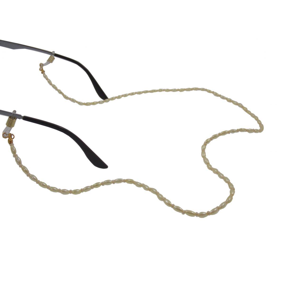 Cordão / Corrente Para Óculos Perola Arroz Miçanga 0101036