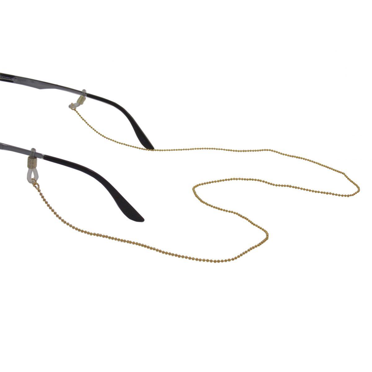 Corrente Para Óculos Dourado Bolinha Niquel 1607091