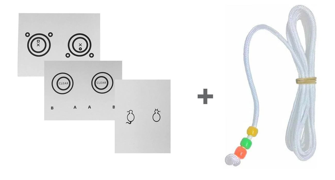 Kit Exercício Cartão de Convergência Fusional + Cordão de Brock