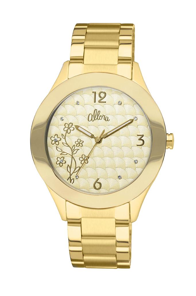 516a9181bcf79 Kit Relógio Allora Feminino Dourado AL2035GD4DAlloraAlloraCompra ...