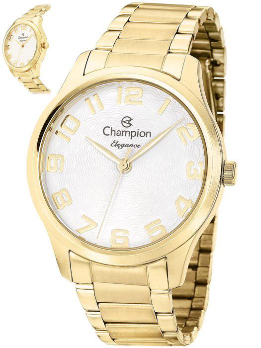 0e732017476 Kit Relógio Feminino Champion Elegance Dourado CN26064W