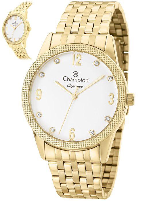 b45f404538a Kit Relógio Feminino Champion Elegance Dourado CN26082W