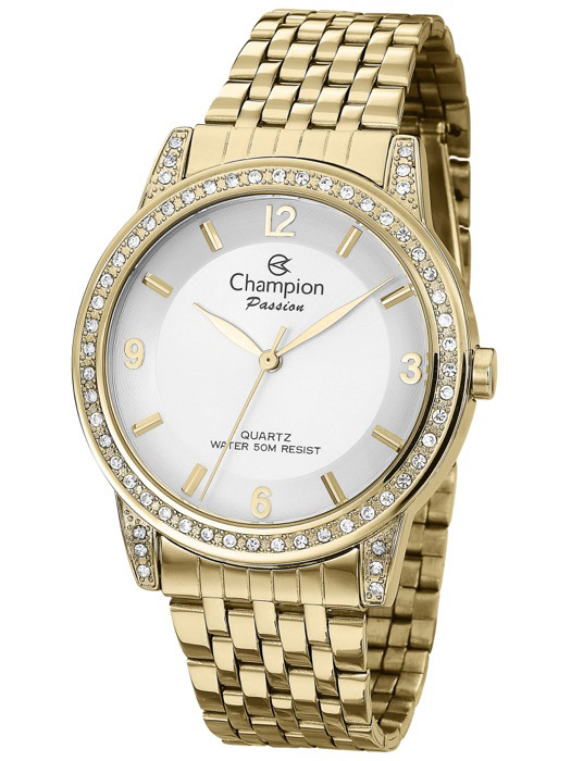 a0ce7027d2b Kit Relógio Feminino Champion Passion Dourado CN29374W