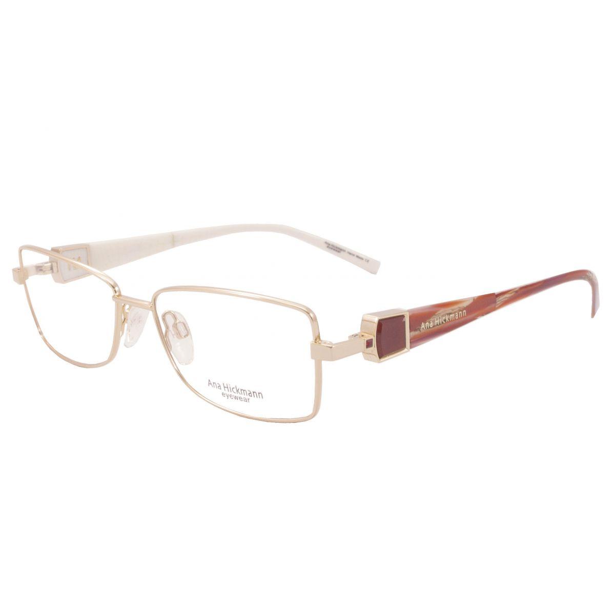 Óculos De Grau Ana Hickmann Duo Fashion AH1248 04A Tam.54Ana ... 455b385c68