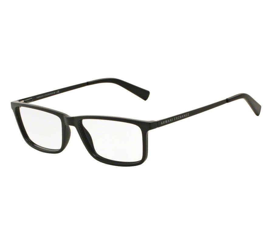 c9fc6f1184ccd Óculos de Grau Armani Masculino Preto AX 3027L 8078 Tam.55Armani ...