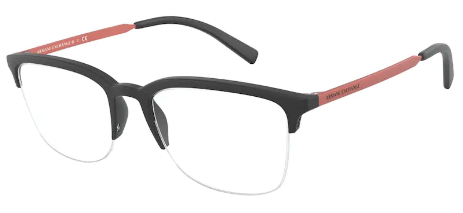 Óculos de Grau Armani Exchange Preto AX 3066 8078 Tam.54