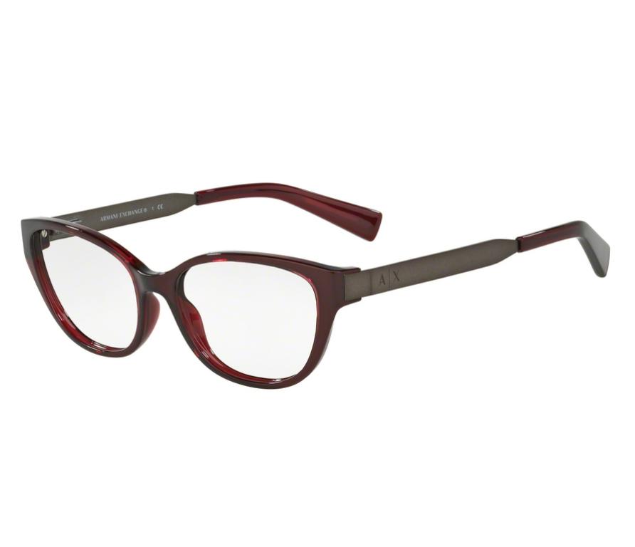 Óculos de Grau Armani Feminino Marsala AX 3033L 8003 Tam.54