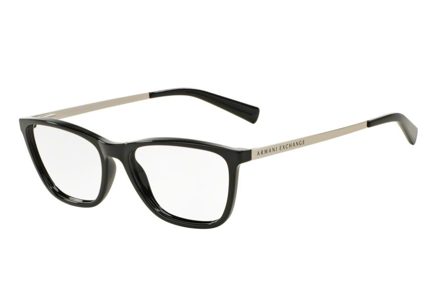 1c7754c5d Óculos de Grau Armani Feminino Preto AX3028L 8158 Tam.53Armani ...