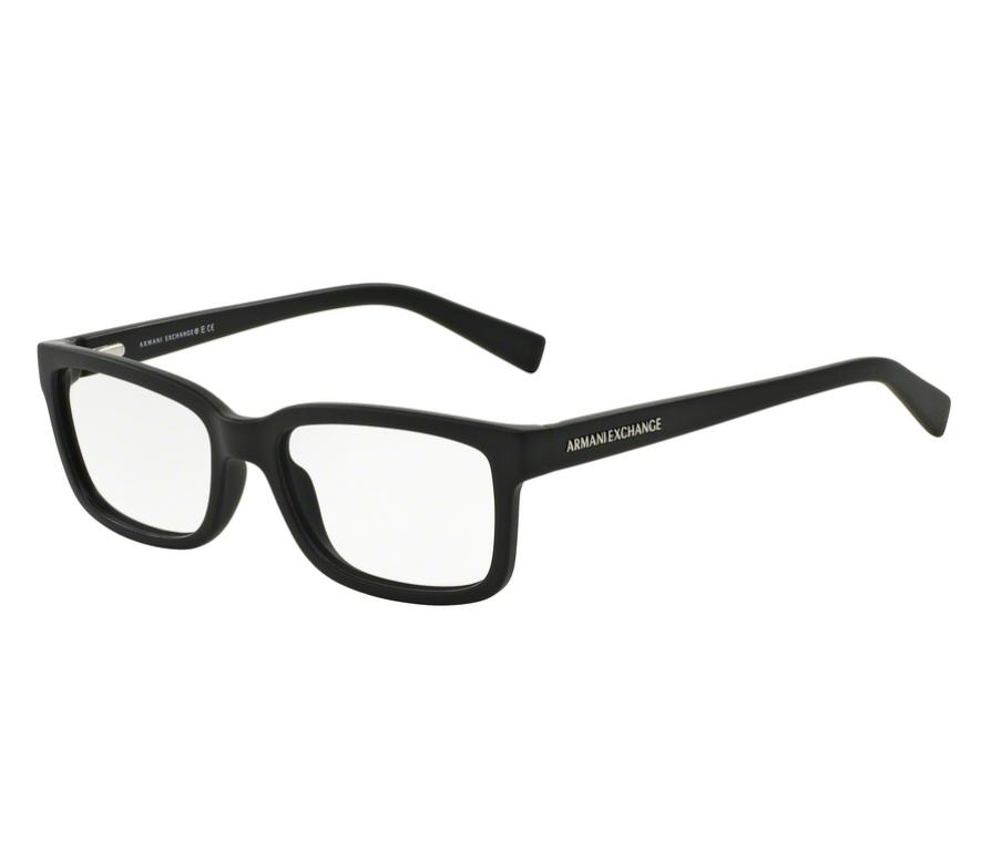 2792f8e5f Óculos de Grau Armani Masculino Preto AX 3022L 8078 Tam.54Armani ...