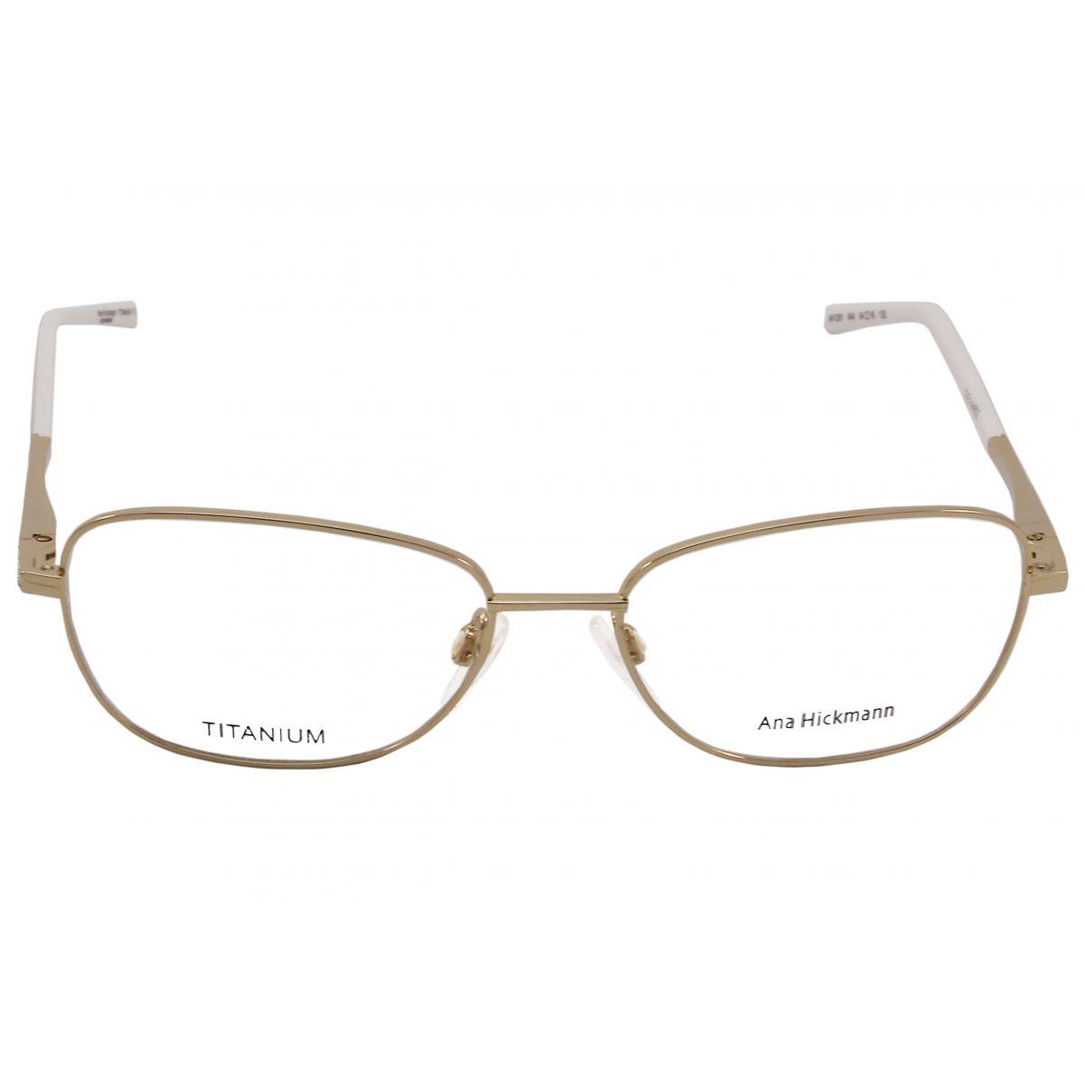 Óculos De Grau Ana Hickmann Titânio AH1261 04A Tam.54Ana Hickmann ... 964a44708e