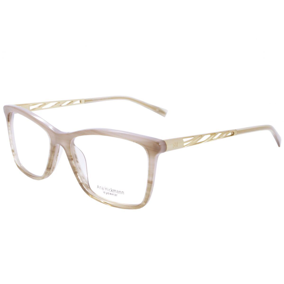 Óculos De Grau Feminino Ana Hickmann AH6213 K02 Tam.54 2d17f49101