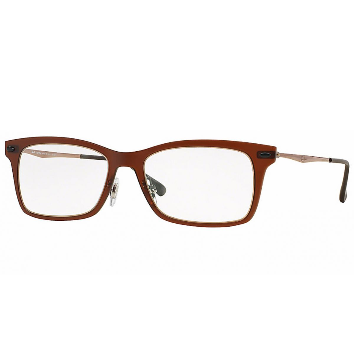 4f5f000758235 Óculos De Grau Light-Ray Titânio Ray Ban RB7039 5450 Tam.51Ray Ban ...