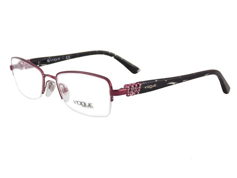 9f562a38c977c Óculos De Grau Feminino Vogue VO3813 812 Tam.51Vogue OriginalVogue ...