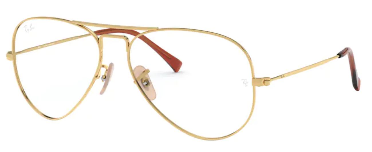 Óculos de Grau Ray Ban Aviator RB6049L 2500 Tam.55