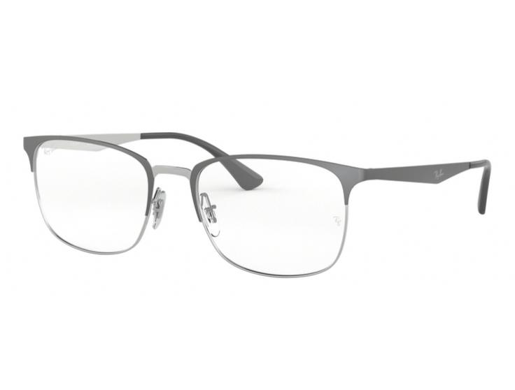 9da0bdabe7bdc Óculos de Grau Ray Ban Metal Cinza RB6421 3004 Tam. 54Ray Ban ...