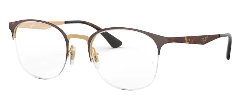 Óculos de Grau Ray Ban Metal Havana RB6422 3001 Tam. 51