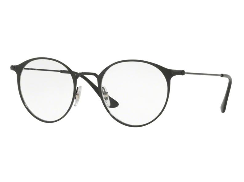 a026f813e Óculos De Grau Ray Ban Redondo Preto RB6378 2904 Tam. 49Ray Ban ...