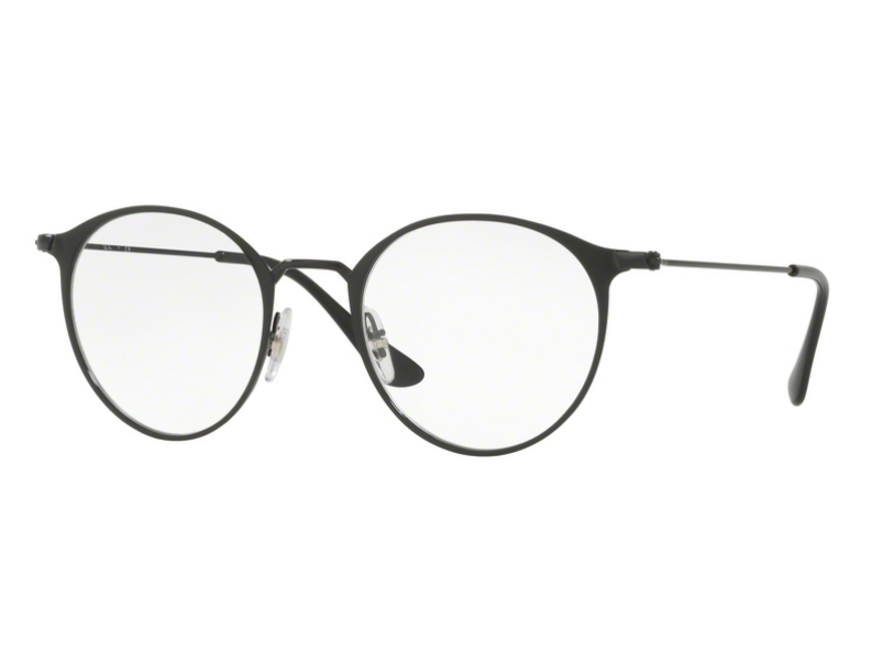 0d5ad2dacb657 Óculos De Grau Ray Ban Redondo Preto RB6378 2904 Tam. 49Ray Ban ...