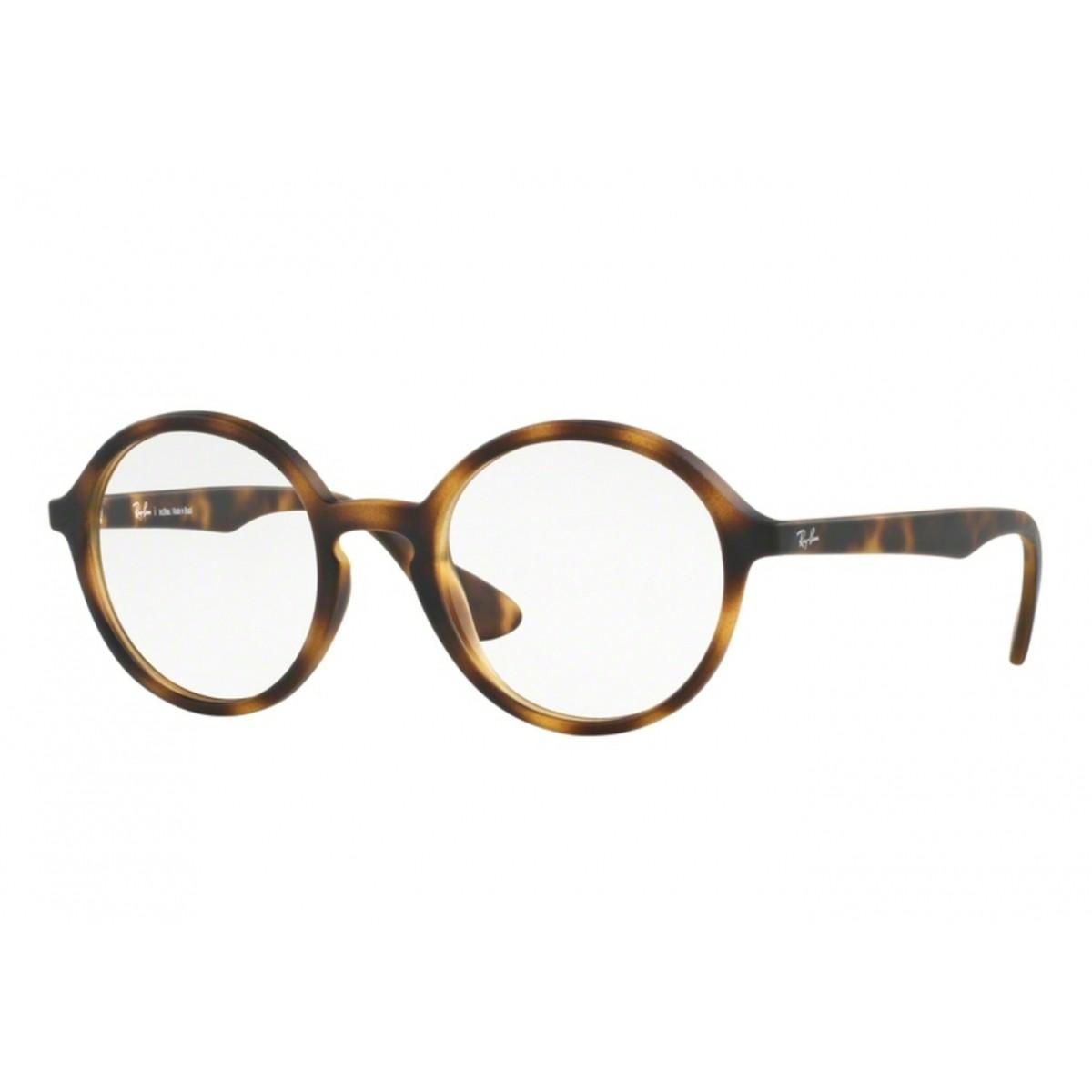 32746d31ed3fd Óculos de Grau Ray Ban Round Redondo RB7075L 5365 Tam.47Ray Ban ...