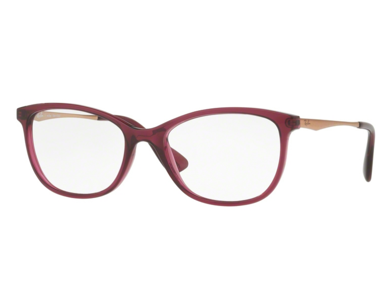 aa8f998e738c9 Óculos de Grau Ray Ban Roxo Feminino RB7106L 8000 Tam.53Ray Ban ...