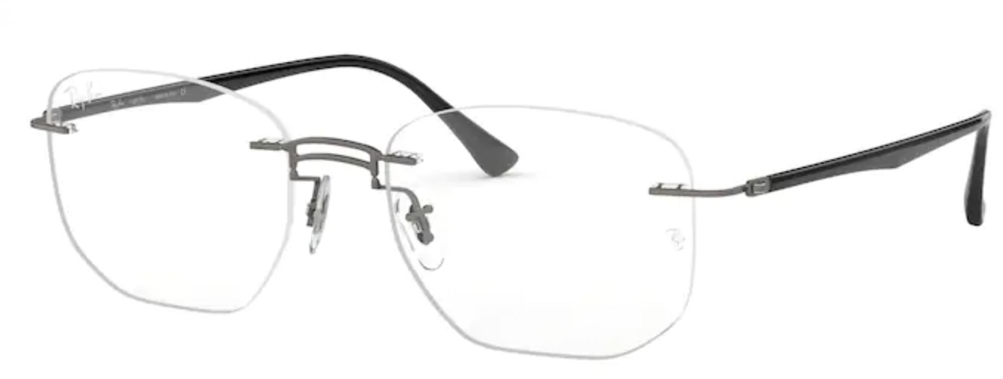 Óculos de Grau Ray Ban Sem Aro LightRay RB8757 1128 Tam. 53