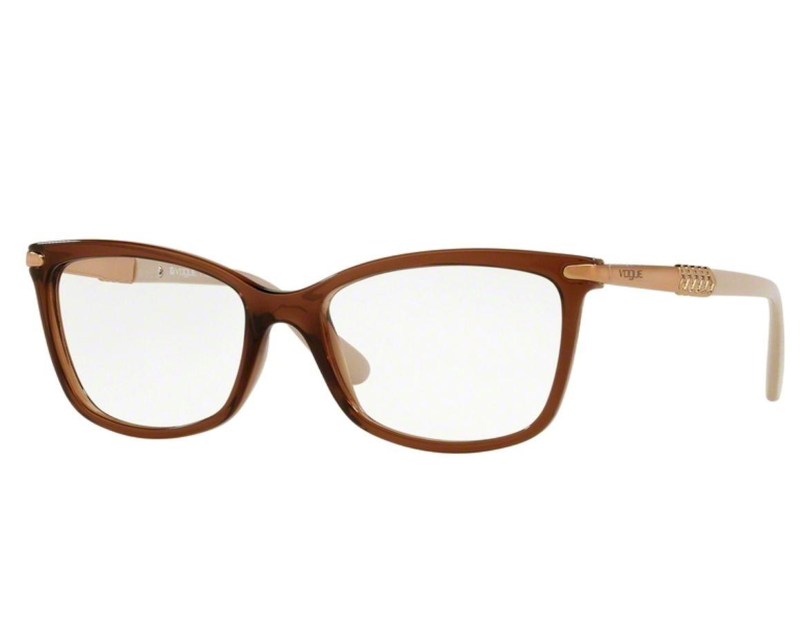 Óculos de Grau Vogue Feminino Marrom VO5125L 2591 Tam.53