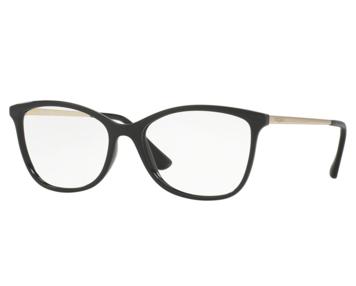 f0f10c68546f5 Óculos de Grau Vogue Feminino Preto VO5077L W44 Tam.54Vogue ...