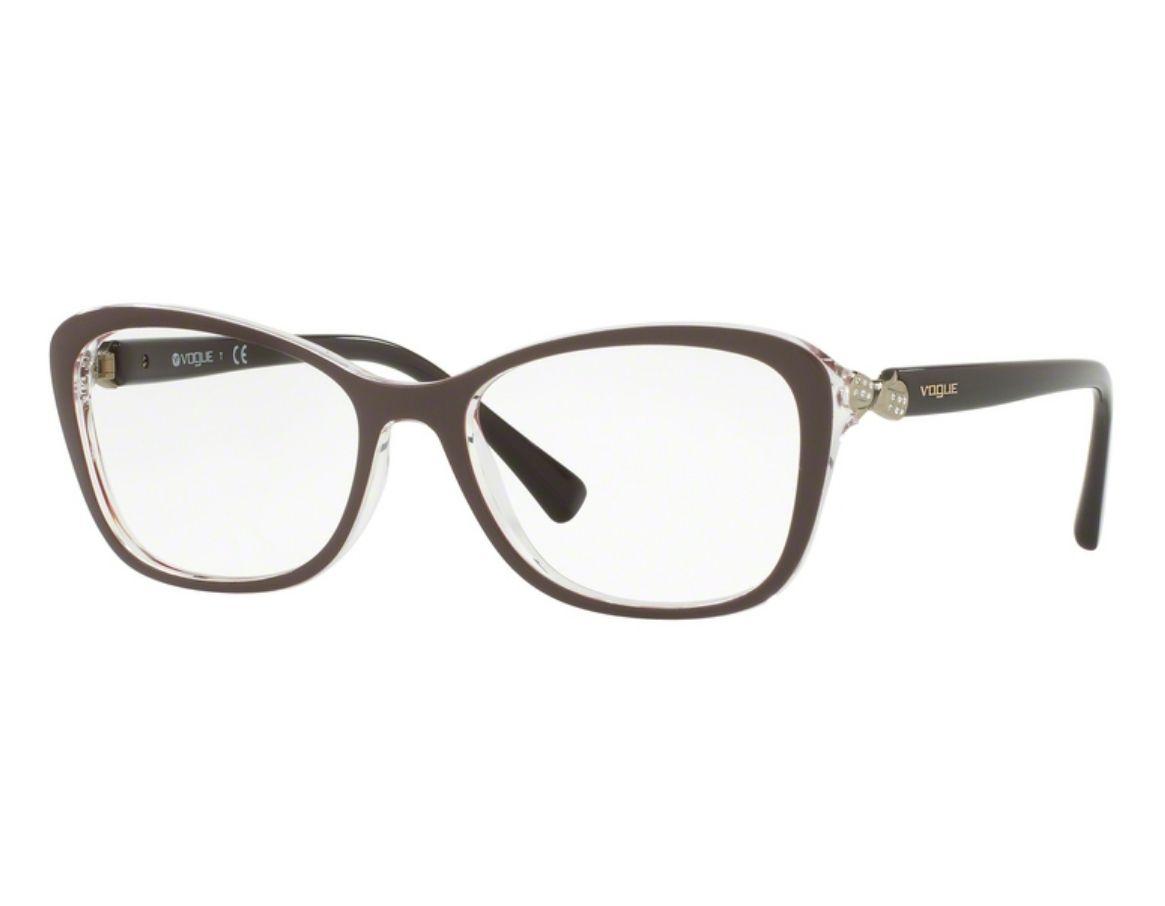 0f1ff7e242a8b Óculos de Grau Vogue Feminino Retrô VO5095B 2465 Tam.54 Vogue ...