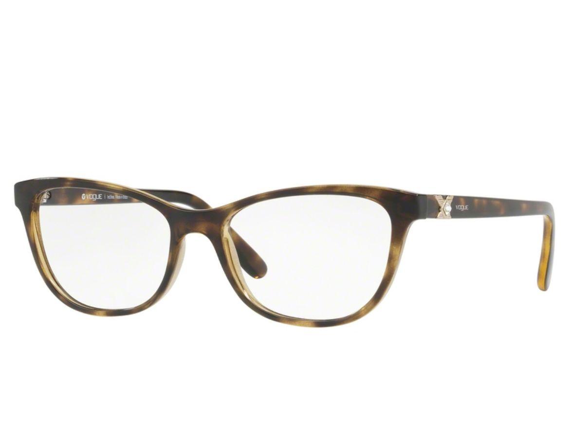 Óculos de Grau Vogue Feminino Tortoise VO5186BL W656 Tam.53Vogue ... 49b7249189