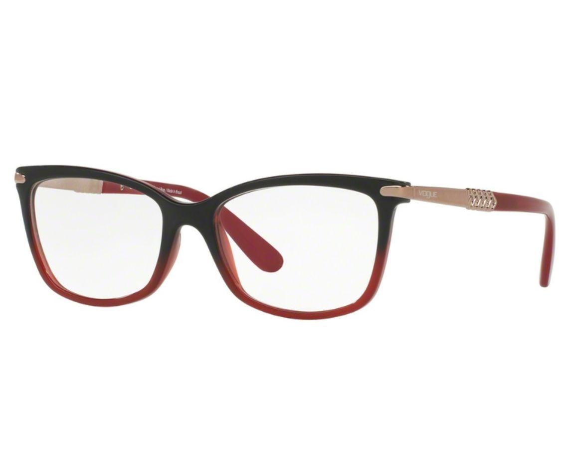 Óculos de Grau Vogue Feminino Vermelho VO5125L 2504 Tam.53Vogue ... 8d061111b4