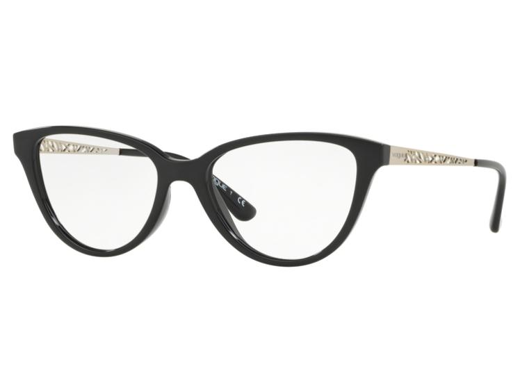 Óculos de Grau Vogue Gatinho Preto VO 5258 W44 Tam.53