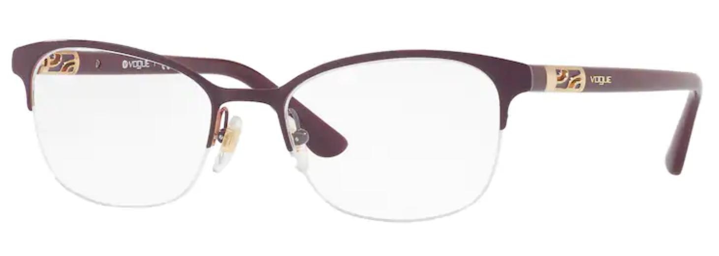 Óculos de Grau Vogue Metal Vermelho Bordô VO 4067 5060 Tam.53