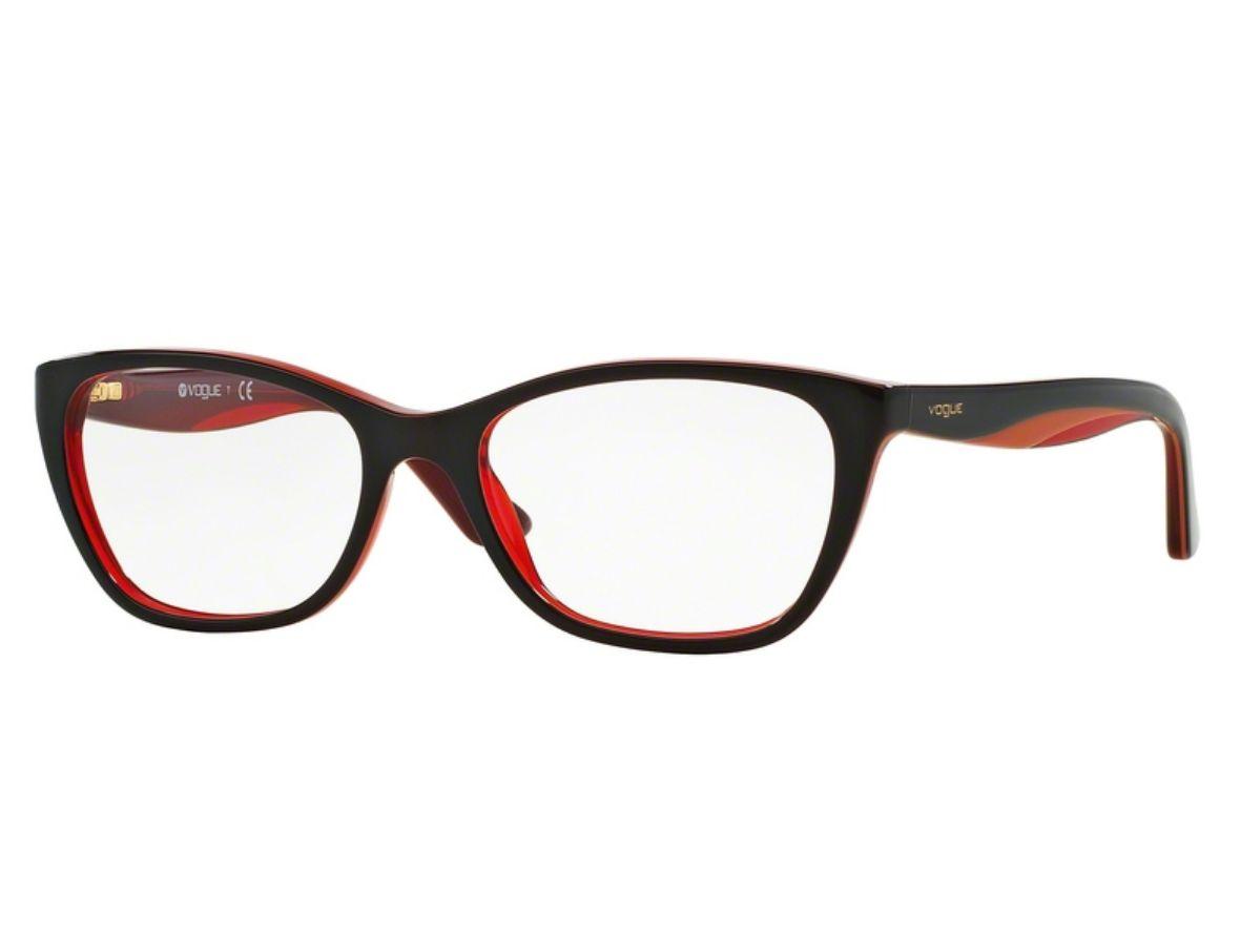 Óculos de Grau Vogue Preto   Vermelho VO2961 2312 Tam.53Vogue ... 2ea1fd6773