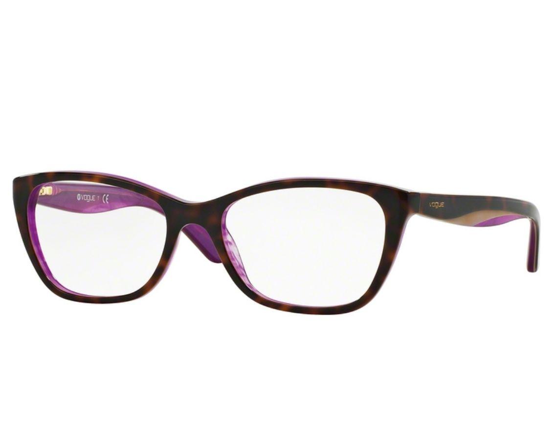 Óculos de Grau Vogue Tortoise / Roxo VO2961 2019 Tam.53
